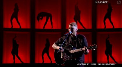 James Arthur red and black